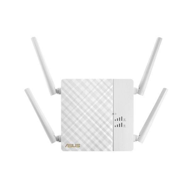 "ASUS Wireless AC2600 Dual-band repeater with four external antennas for improving fast Wi-Fi coverage, RP-AC87, ""RP-AC87"""
