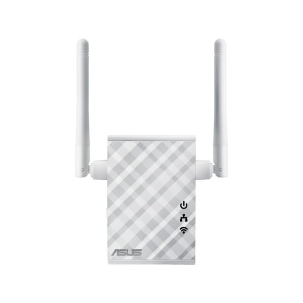 """Wireless Range Extender Asus, N300, 2 antene externe, wall plug, multi- function, 1 port 10/100Mbps, Access Point / Range Extender / Access point/Media Bridge Mode, Signal indicator. One-touch LED light., """"RP-N12"""""""