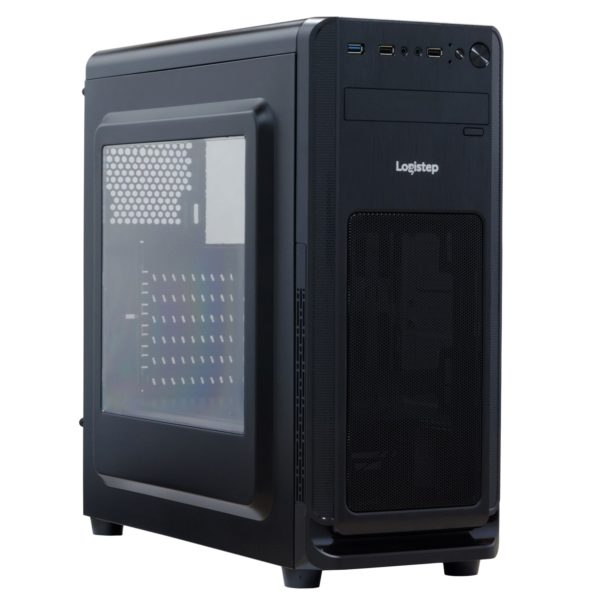 "CARCASA SPACER Middle-Tower ATX, M3D, side window, suporta 6* 120mm fan, I/O panel, black ""SP-GC-02"""