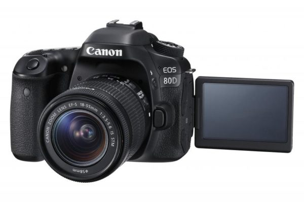 "Camera foto Canon EOS80D EF18-55S, 24MP, CMOS,3″ TFT fully articulated, DIGIC 6, 7 cadre / sec, ISO 100-16000,FullHD movies 30fps, compatibil SD/SDHC/SDXC, 1/8000, HDMI,USB,acumulator Li-ion LP-E6N ""AC1263C011AA"""