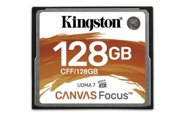 "Compact Flash Card Kingston, Canvas Focus, 128GB, R/W speed: up to 150MB/s/130MB/s ""CFF/128GB"""