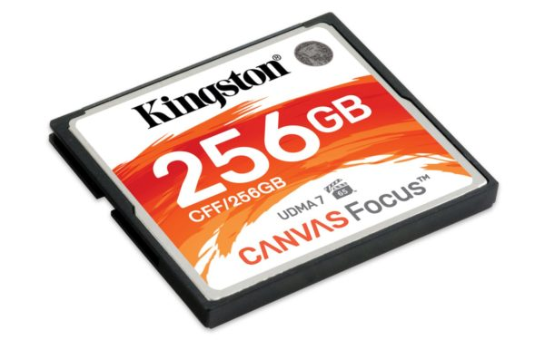 "Compact Flash Card Kingston, Canvas Focus, 256GB, R/W speed: up to 150MB/s/130MB/s ""CFF/256GB"""