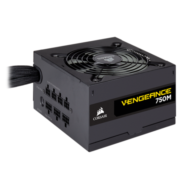 "Sursa Corsair Vengeance Series 750M, 750W, 1x ATX Connector, ATX v2.4, 80 PLUS Silver, ATX Form, Low-Profile, All black, 2x EPS12v Connector, 1x Flopyy connector, Semi Modular, 6x PCIe Connector, 8x SATA Connector. ""CP-9020176-EU"""