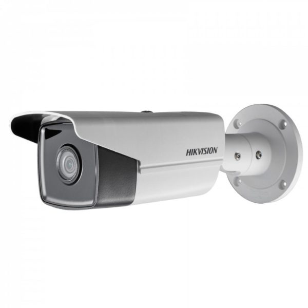 "Camera de supraveghere Hikvision IP Bullet, DS-2CD2T43G0-I8(6mm); 4MP; IR range: 80m; EXIR network camera; 1/3″ Progressive Scan CMOS; H.265 +/H.265/H.264+/H.264/MJPEG; Color: 0.01 lux @(F1.2, AGC ON), ""DS-2CD2T43G0-I86MM"""
