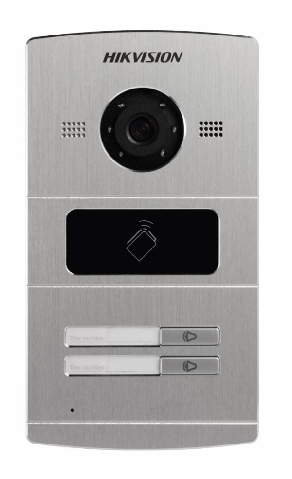 "Post videointerfon color Hikvision DS-KV8202-IM, 1.3 MPVillaDoorStation ,Aluminum ally, Camera resolution: HD720P, 25fps(P),10M/100MSelf-adaptiveEthernet, RS-485, 4-ch alarm input,1-ch alarmoutput,IP65, ""DS-KV8202-IM"""