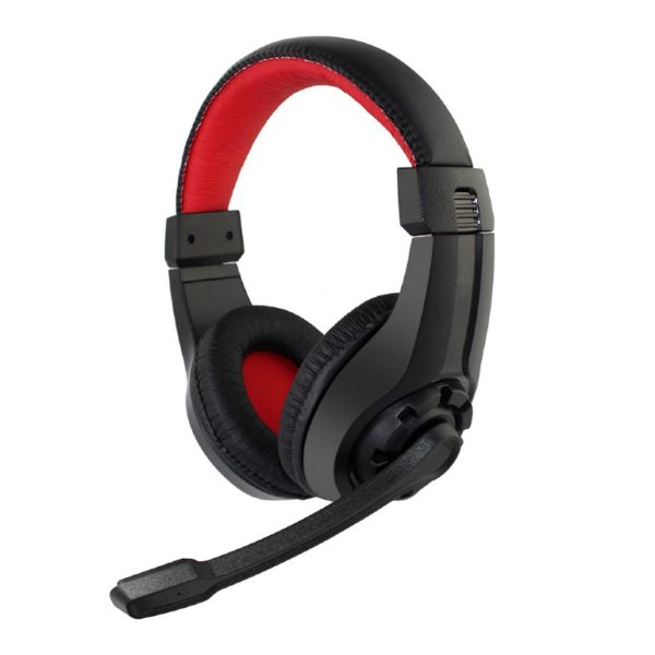 "Gaming headset with volume control, black/red ""GHS-01"""