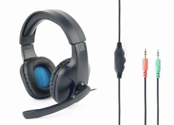 """Gaming headset with volume control, matte black """"GHS-04"""""""