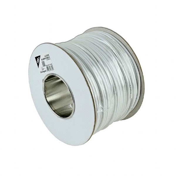 "Alarm cable, white color, 100 m roll, shielded ""AC-6-002-100M"""