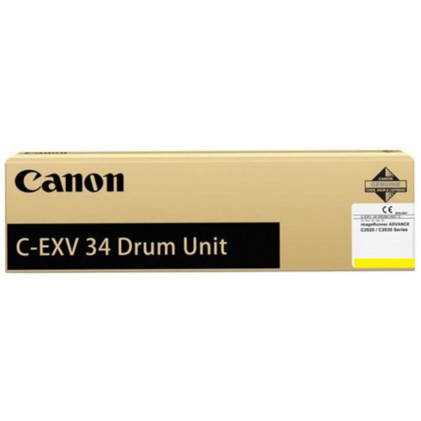 "Drum Unit Original Canon Yellow, EXV34Y, pentru IR Advance C2020I|C2020L|C2025I|C2025L|C2030I|C2030L|C2220L|C2220I|C2225I|C2230I, 36K, incl.TV 0.55RON, ""CF3789B003BA"""