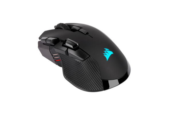 CORSAIR IRONCLAW RGB WIRELESS, Rechargeable Gaming Mouse with SLISPSTREAM WIRELESS Technology, Black, Backlit RGB LED, 18000 DPI, Optical (EU version)
