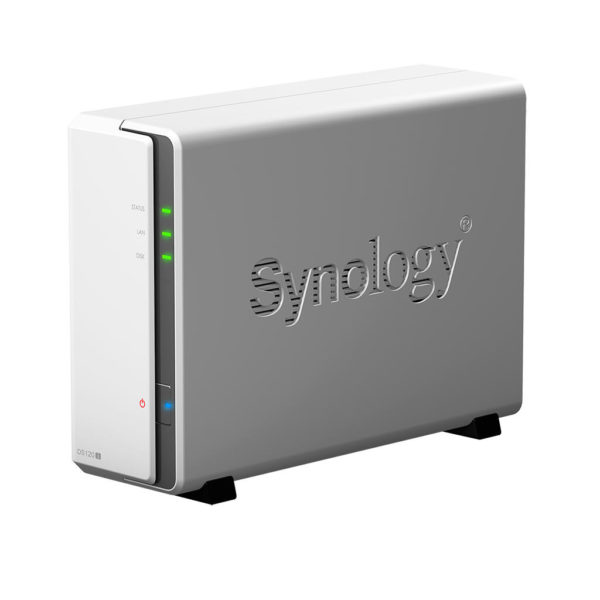 "NAS SYNOLOGY, tower, HDD x 1, capacitate maxima 16 TB, memorie RAM 512 MB, RJ-45 (Gigabit), porturi USB 2.0 x 2, ""DS120j"""