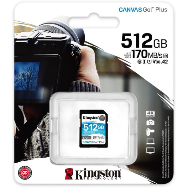 SD CARD KS 512GB CL10 UHS-I CANV GO PLUS