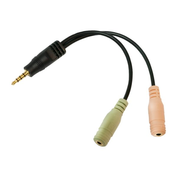"""ADAPTOR audio LOGILINK 3.5 stereo 4p. male to 2 x 3.5stereo female """"CA0021"""" (include TV 0.06 lei)"""
