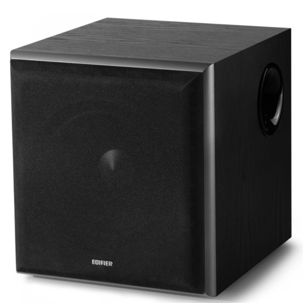 """SUBWOOFER EDIFIER, RMS: 70W activ, 8″ bass, RCA Line-in/Line-out, automatic stand-by, frecv. 38Hz-200Hz, MDF 21mm, black, """" T5-BK"""" (include TV 3 lei)"""