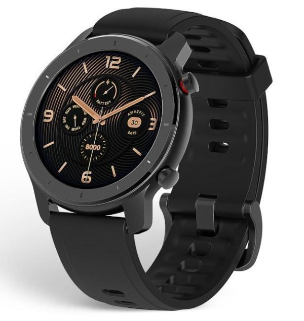 Amazfit GTR 42mm Elegant Design Smartwatch, Metal and Ceramic Elegant Design,326 PPI AMOLED Display,12-day Battery Life,5 ATM Water Resistant,12 Sports Modes,Heart Rate,Bluetooth music control. Smart Notification