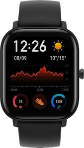 Amazfit GTS Smartwatch, 341 PPI AMOLED Display,Editable Widgets,Slim Metal Body,14-day Battery Life,5 ATM Water Resistance,12 Sports Modes,Heart Rate, Music, Smart Notificaton, Obsidian Black