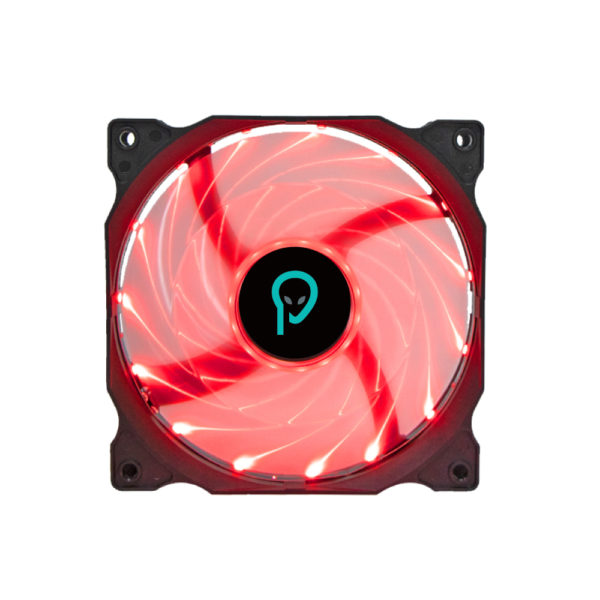 """VENTILATOR SPACER PC 120x120x25 mm, RED light, Hydraulic Bearing, 52CFM, conector 4-pin """"SPFC-120-4P-RD"""""""