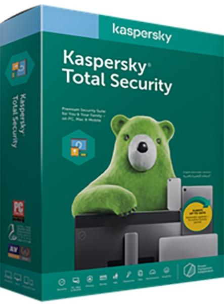 """Kaspersky Total Security Eastern Europe Edition. 5-Device; 2-Account KPM; 1-Account KSK 1 year Renewal License Pack, """"KL1949OCEFR"""""""